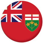 Ontario Province Flag 58mm Keyring